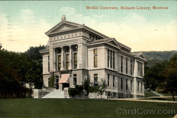 Redpath Library, McGill University Montreal Canada