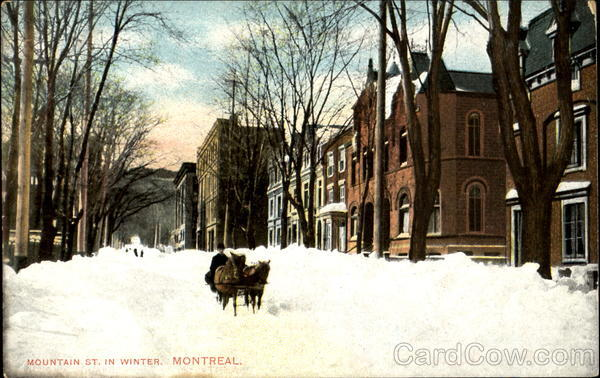 Mountain St. In Winter Montreal Canada Quebec