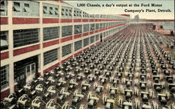 1,000 Chassis A Day's Output At The Ford Motor Company's Plant