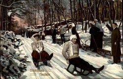People Sledding