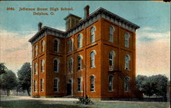 Jefferson Street High School Postcard