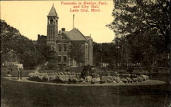 Fountain In Oaklyn Park And City Hall