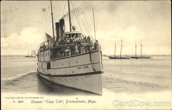 Steamer Cape Cod Provincetown Massachusetts Boats, Ships