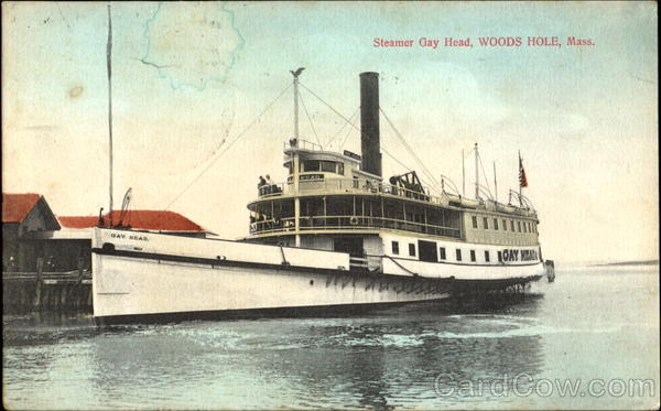 Steamer Gay Head Woods Hole Massachusetts Boats, Ships