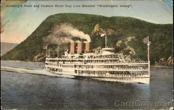 Anthony's Nose And Hudson River Day Line Steamer Washington Irving