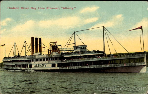 Hudson River Day Line Steamer Albany Boats, Ships
