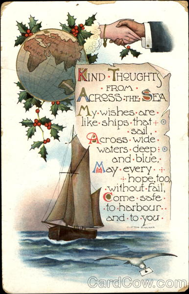 Kind Thoughts From Across The Sea Boats, Ships