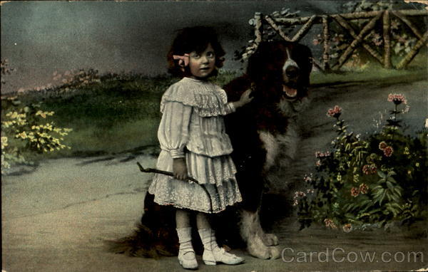 Girl with Dog Dogs