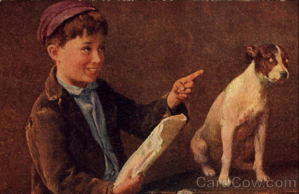 Boy with Dog Dogs