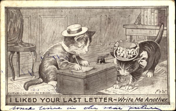 I Liked Your Last Letter Write Me Another Cats