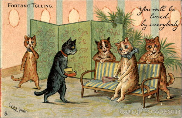 Fortune Telling Louis Wain Cats