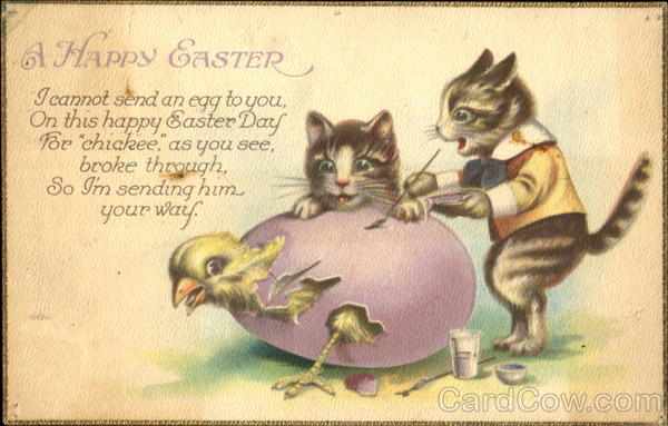 A Happy Easter Cats