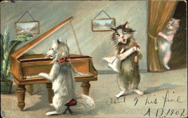 Piano, Singing Maurice Boulanger Cats Music