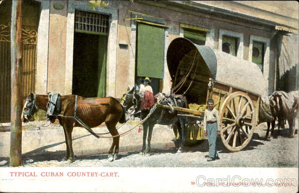 Typical Cuban Country Cart Caribbean Islands