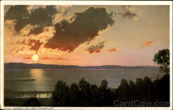 Sunset On Lake Champlain Advertising