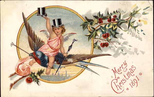 Merry Clhristmas 1891 Advertising