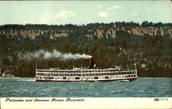 Palisades And Steamer Homer Ramsdell