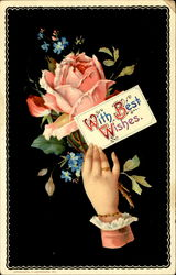 With Best Wishes Postcard