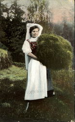 Girl with Hay