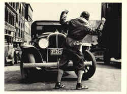 Photo shows a young boy being hit by an auto 1938