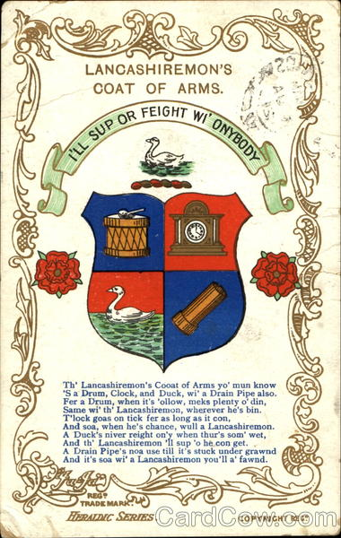 Lancashiremon's Coat Of Arms England