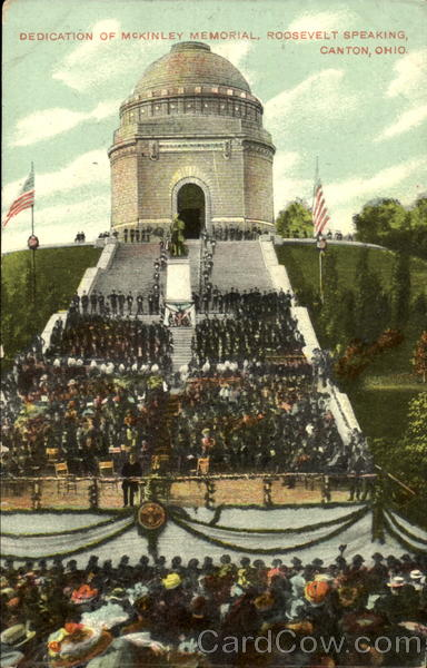 Dedication Of McKinley Memorial Canton Ohio