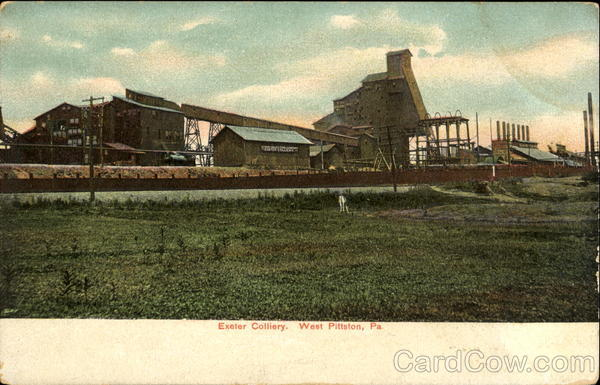 Exeter Colliery West Pittston Pennsylvania Mining