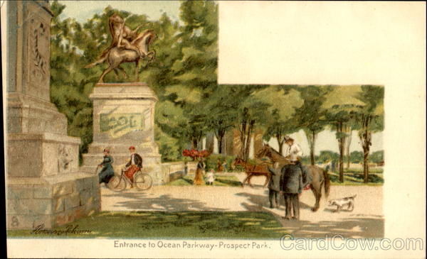Entrance To Ocean Parkway, Prospect Park New York City
