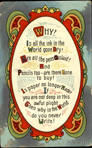 Why don't you Write? Postal