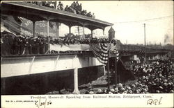 President Roosevelt Speaking From Railroad Station