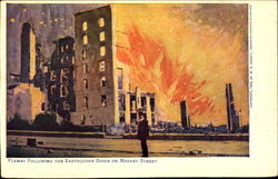 Flames Following The Earthquake Shock On Market Street Postcard
