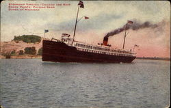Steamship Virginia Passing Sand Dunes Of Michigan