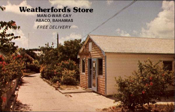 Weatherford's Store Abaco Bahamas Caribbean Islands