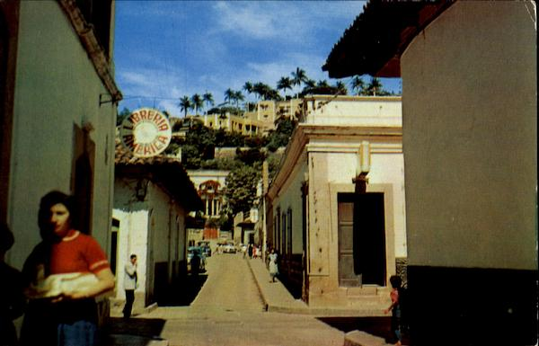 A Narrow Street Of Tegucigalpa Honduras Central America