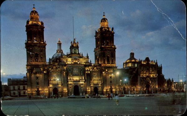 A Beautiful Twilight Shot Of The Cathedral Mexico