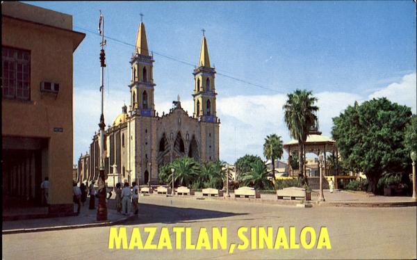 The Basilica Of The Immaculate Conception And The Plaza Mazatlan SINALOA Mexico