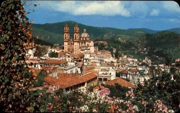 Panoramic View With The Santa Prisca Church Taxco Mexico