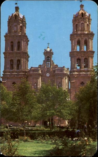 Park And Cathedral San Luis Potosi Mexico