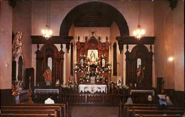 Inside View Of The Antique Mission Of Guadalupe Mexico