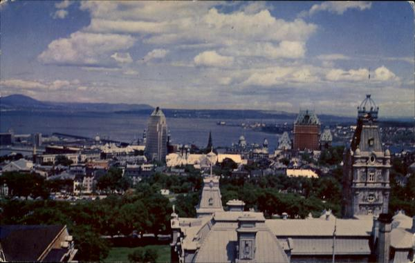 View Of Upper Town Overlooking The St. Lawrence Canada