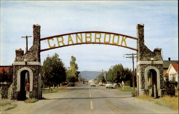 The East Entrance To Cranbrook Canada British Columbia