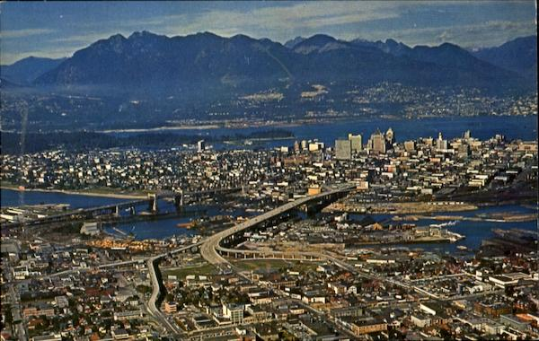 Aerial View Of Vancouver Canada British Columbia