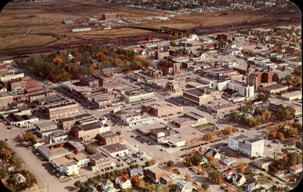 An Aerial View Of Lethbridge Canada Alberta