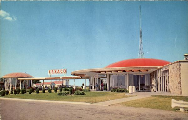 Greetings From Scott's Restaurnats And Texaco Service Centre, Macdonald-Cartier Freeway Highway 401 Ontario