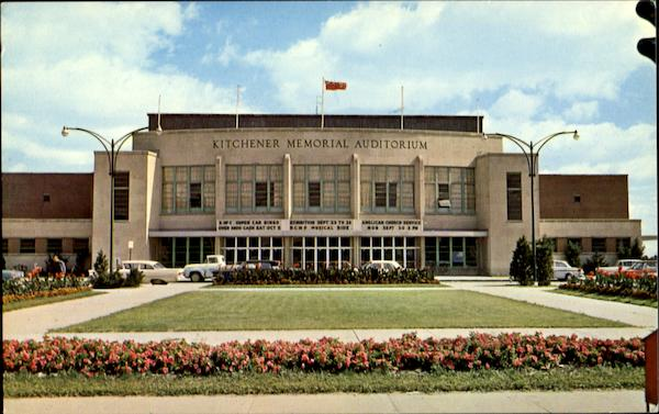 Kitchender Memorial Auditorium Kitchener Ontario Canada