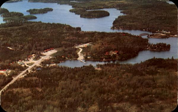An Aerial View Of Sioux Narrows Ontario Canada