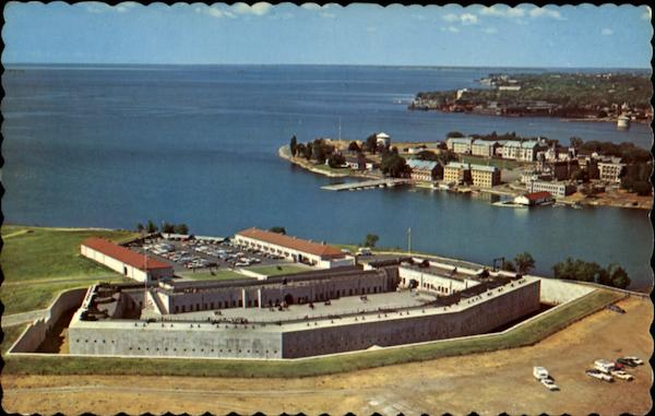 Bird's-Eye View Of Old Fort Henry Kingston Ontario Canada