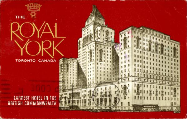 The Royal York Toronto Ontario Canada