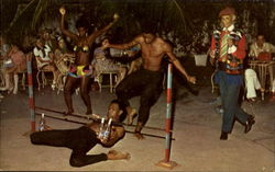 Popular Caribbean Dance The Limbo Postcard