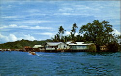 Houses On Stilt Brunei Postcard